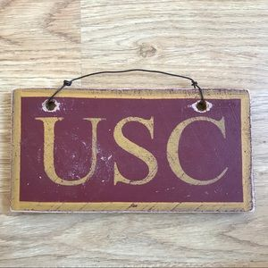 Wooden USC hand painted decor